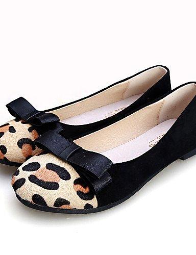 blanco señaló vestido us5 uk3 PDX Toe cn34 eu35 comodidad de white cerrado zapatos de ante Flats talón plano negro Toe mujer casual aOUa8wR