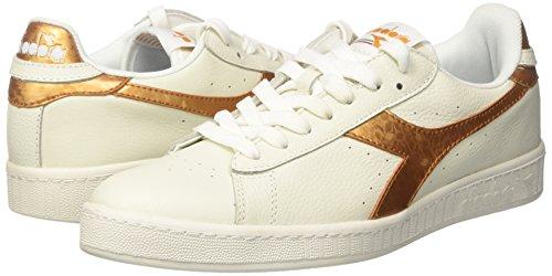 Diadora Game bianco Cassé Basses Blanc oro Sneakers Homme Metallic ppTgwqr