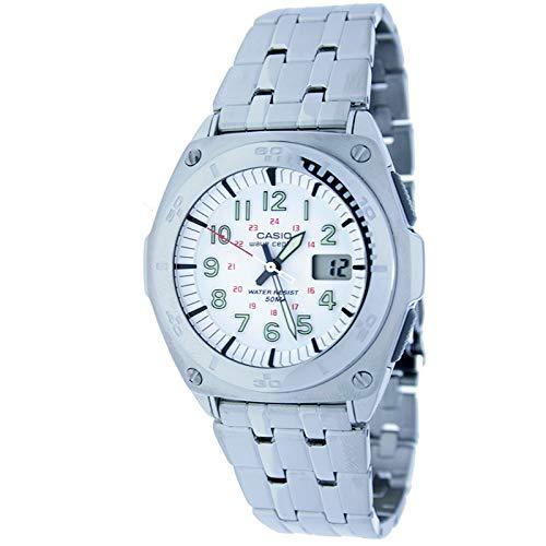 Casio Wvq-200hde-7a Reloj Analogico/Digital para Hombre Caja De Acero Inoxidable Esfera Color Blanco: Amazon.es: Relojes