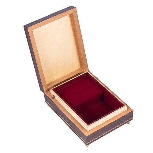 The Swan Lake Op. 20 Ballet Italian Handcrafted Hardwood Jewelry Music Box by Splendid Music Box Co. (Image #5)