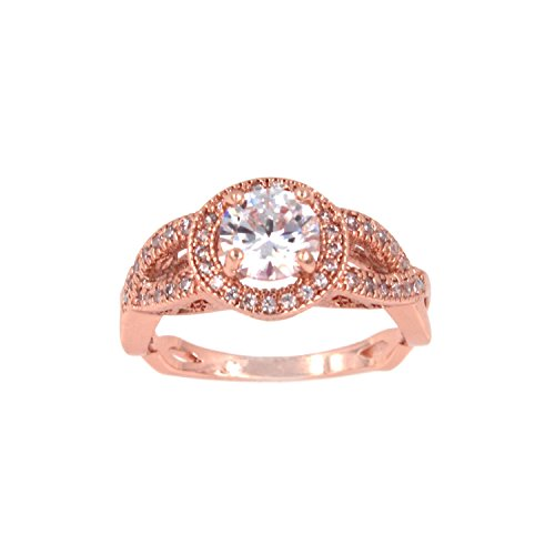 Round Diamond Cut Eternity Love Twisting Split Shank Engagement Ring Size 5-10 Jewelry