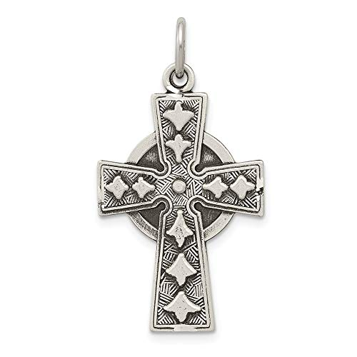 925 Sterling Silver Irish Cross Religious Pendant Charm Necklace Fine Jewelry Gifts For Women For Her