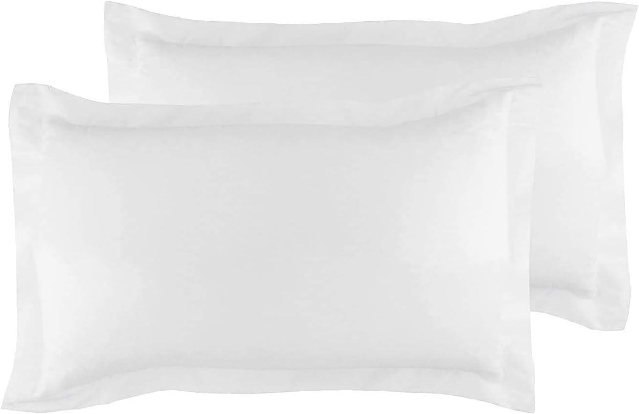 Standard Pillow Shams Set of 2 White Pillow Shams Standard 20X26 Pillow Cover 100% Soft Egyptian Cotton 600 Thread Count Hotel Class Bedding Cushion Cover Decorative Standard Size Bed Pillow Shams Set