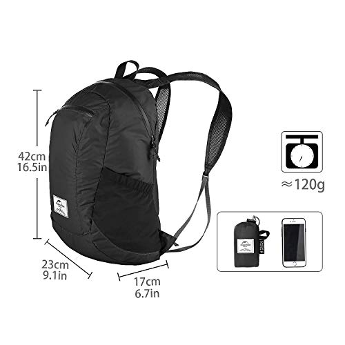 Naturehike 18L Ultralight Collapsible Backpack (Black) by Naturehike (Image #1)