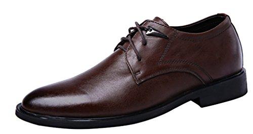 Louechy Heren Ocnp Classic Oxford Schoenen Lederen Jurk Schoenen Wingtip Schoenen Koffie