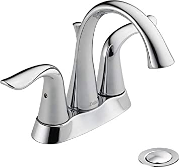 Delta Faucet Lahara Centerset Bathroom Faucet Chrome Bathroom Sink Faucet Diamond Seal Technology Metal Drain Assembly Chrome 2538 Mpu Dst Touch On Bathroom Sink Faucets Amazon Com