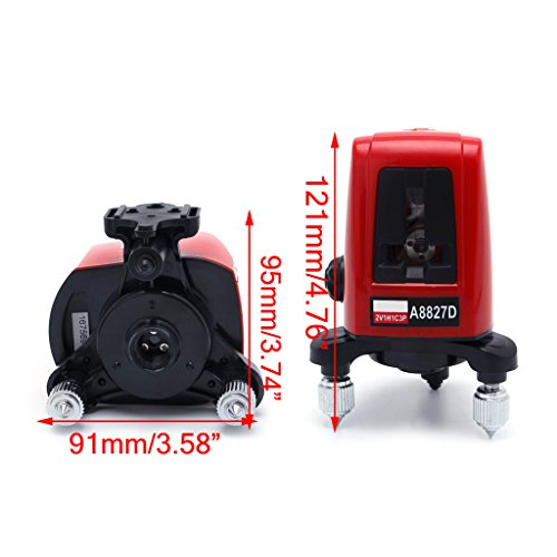 (Portable A8827D 3 Red Line 3 Dots Self-leveling Horizontal Vertical Measuring)