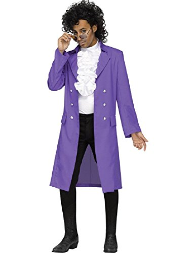 Fun World Men's Rain Plus Jacket Costume, Purple -