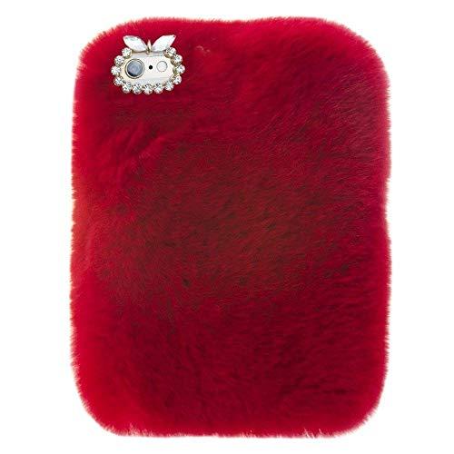 - For Lenovo Tab3 8 Plus Tablet Cover, Winter Fashion Bling Rhinestone Fuzzy Faux Rabbit Furry Fluffy Beaver Rex Rabbit Fur Protective Case for Lenovo Tab 3 8 Plus (TB-8703)(Red)