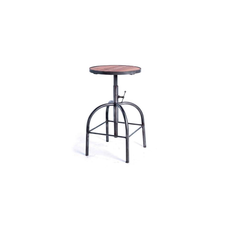 Industrial Loft Reclaimed Wood Adjustable Bar Counter Stool