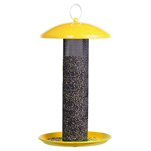 Feeder Bird Seed Nyjer - Perky-Pet YSSF00347 Shorty Finch Bird Feeder, Yellow