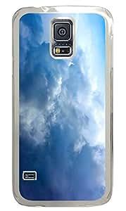 Samsung Galaxy S5 Big Fluffy White Clouds PC Custom Samsung Galaxy S5 Case Cover Transparent
