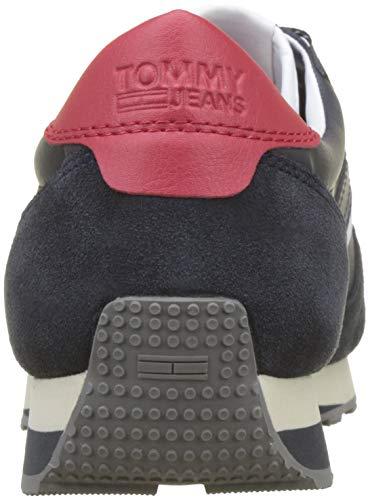 006 Hombre Runner para Sneaker Zapatillas Tommy Azul Ink Jeans Retro wYHzxWqcPO
