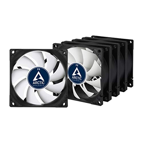 ARCTIC F8-80 mm Standard Case Fan - Five Pack I Ultra Low Noise Cooler | Silent Cooler with Standard Case | Push- or Pull Configuration Possible (Corsair Air Series Af120 Led Quiet Edition)
