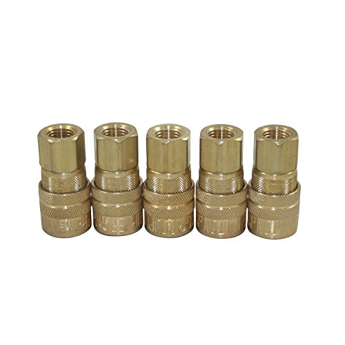 (5 X Milton 715 M Style Quick Coupler: 1/4-Inch Female Coupler)