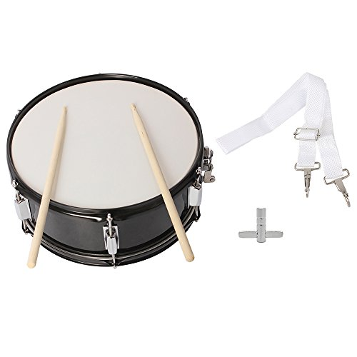 (Wuddi Kid Drum, Hand Frame Small Drum with Drumsticks Drum Key Strap for Kids Adult Toddler (14x5.5 Inch Black))