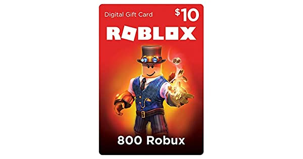 Amazoncom Roblox Gift Card 800 Robux Online Game Code - how much robux is in a 50 roblox card