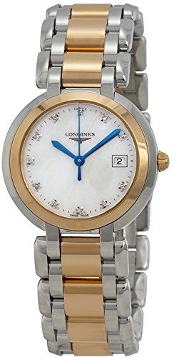 - Longines Primaluna White Mother of Pearl Stainless Steel and 18kt Rose Gold Dial Ladies Watch L81125876