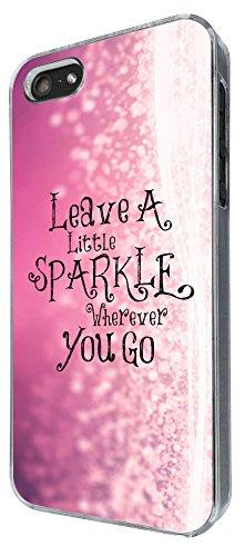 510 - Sparkle Leave A Little Sparkle Wherever You Go Design iphone 4 4S Coque Fashion Trend Case Coque Protection Cover plastique et métal