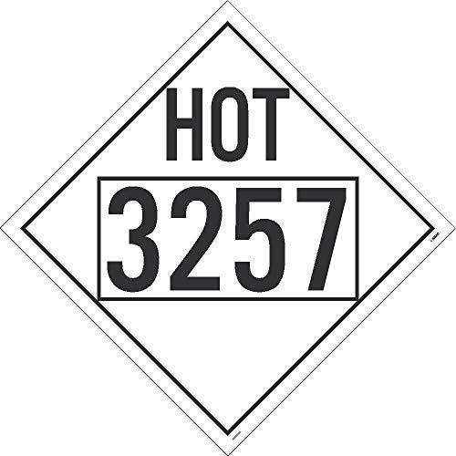 Nmc Vinyl 4-Digit Dot Vehicle Placards - Hot 3257