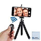 """Acuvar 6.5"""" inch Flexible Tripod with Universal Mount for All iPhones, Samsung phones"""
