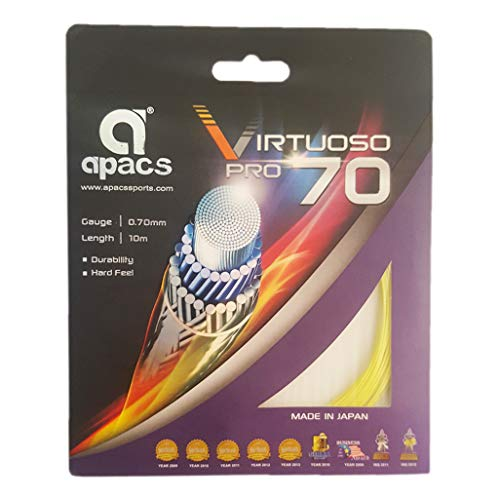 Apacs Virtuoso Pro 70 Badminton Strings White (B0814ZQXB3) Amazon Price History, Amazon Price Tracker