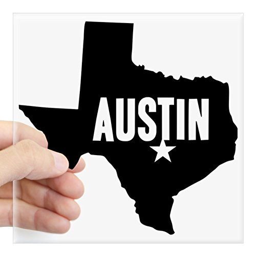 CafePress - Austin, TX Square Sticker 3