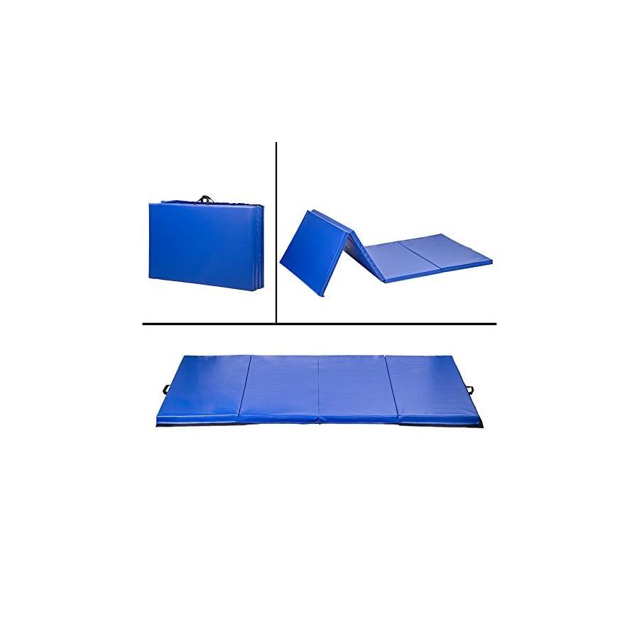 "4'x10'x2"" Thick Folding Panel Gymnastics Mat Gym Fitness Yoga Exercise Mat"