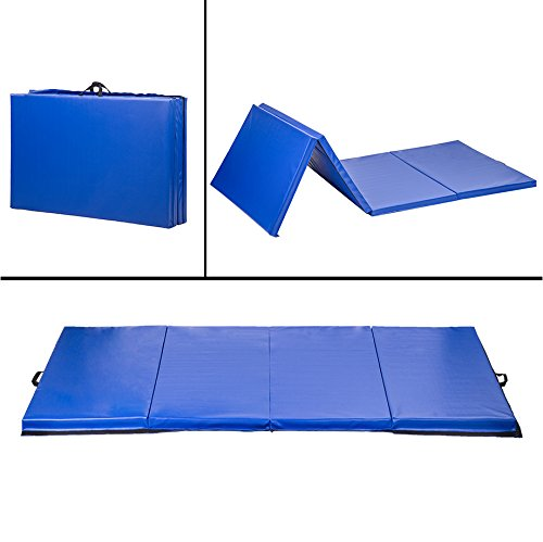 BestMassage 4'x10'x2 Thick Folding Panel Gymnastics Mat Gym Fitness Exercise Mat