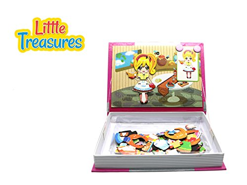 [Little Treasures 84-Pcs Magnetic Dress-Up Set Kitchen dressup baby Toy Book for Kids Ages 3 Plus] (Book Day Dress Up)