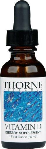 Thorne Research Vitamin D Liquid Dietary Supplement (New Metered Dispenser) 1 fl oz