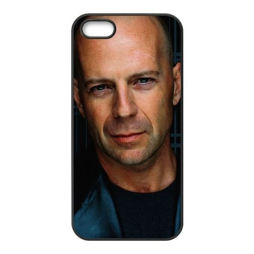 Bruce Willis 002 coque iPhone 4 4S cellulaire cas coque de téléphone cas téléphone cellulaire noir couvercle EEEXLKNBC23861