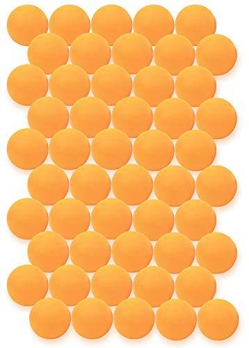 Click N' Play Ping Pong Balls 3-Star Premium Advanced Training Tournament Grade Table Tennis Balls Orange (Pack of 50) (Big Play Balls)