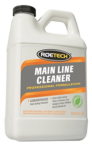 Half Gallon Concentrate - Roetech MLC-LC-H-3 Main Line Cleaner Concentrate (Pack of 3), 0.5 gallon