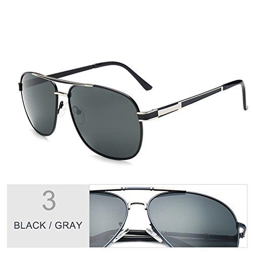 Black Gafas Negro Guía TIANLIANG04 Clásica Hombre Polarizadas Gafas Para Gray Gris Moda UnvHRTq