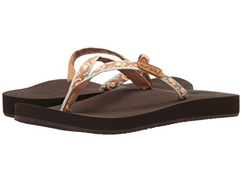 - Reef Women's Ginger Flip-Flop (8 B(M) US / 39 EUR, Brown/Peach)