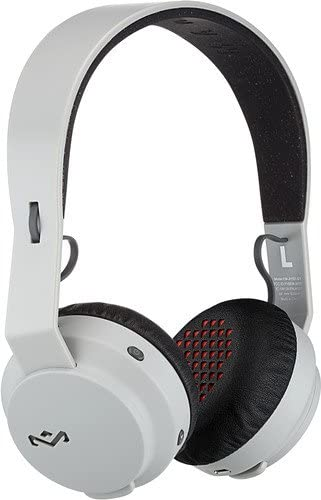 House of Marley Rebel Wireless Bluetooth On Ear Headphones with a Microphone, Grey