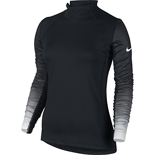 Price comparison product image Women's Nike Pro Hyperwarm Top Black/White Size X-Large