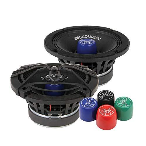 Soundstream SM.650PRO 6.5 Inch 125 Watts RMS Pro Audio MID-Range Speakers PAIR 4 Ohm (250W Max) (Car Audio Speaker Soundstream Pro)