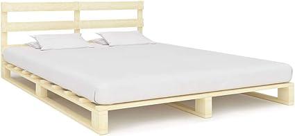 vidaXL Cama de madera maciza de pino, para futón, cama de ...