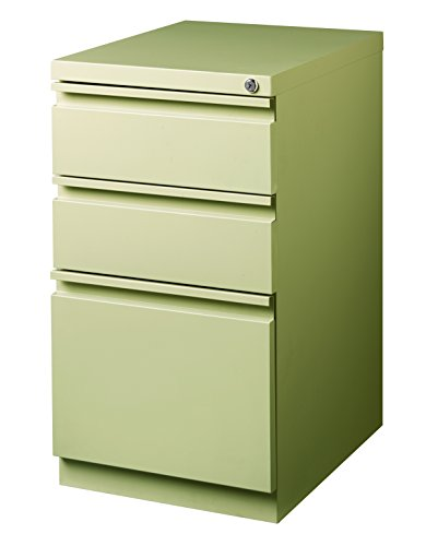 Pro Series Three Drawer Mobile Pedestal File Cabinet, Putty, 20 inches deep (22282)