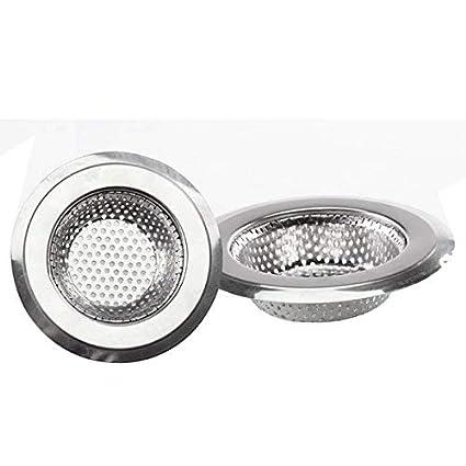 Kitchen Sink Drain strainer 3PCS Strainless Steel Drain Flilter Garbage  Disposal Mesh Stopper Basket Cover Plug with Large Wide Rim 4.5\