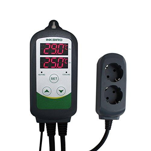 Inkbird ITC-308 Plug-n-Play Controlador de Temperatura, Refrigeración y Calefacción Control , Termostato Digital para Terrario Acuario, Calentador Reptil, Cerveza Fermentación