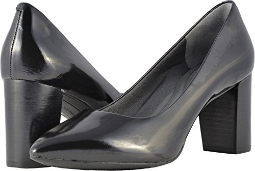 Total Leather (Rockport Women's Total Motion Luxe Violina Pump Black Box Leather 8 M US)