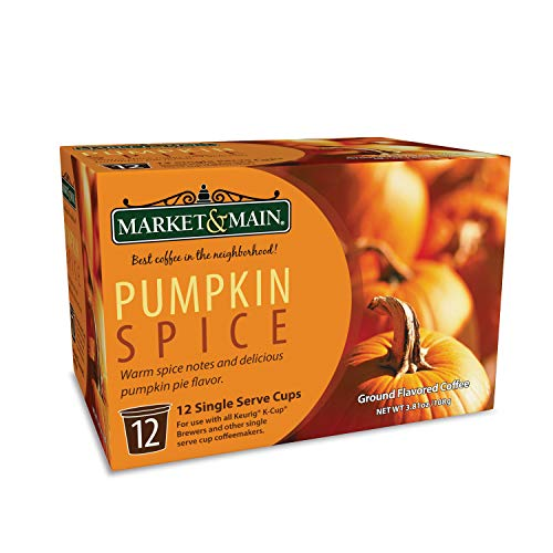 Market & Main OneCup, Pumpkin Spice, Compatible with Keurig K-cup Brewers, 12 Count