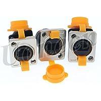 RJ45 waterproof Dust Plug Connector 3 pcs RJ45 connectors IP65 mount Ethernet panel Connector