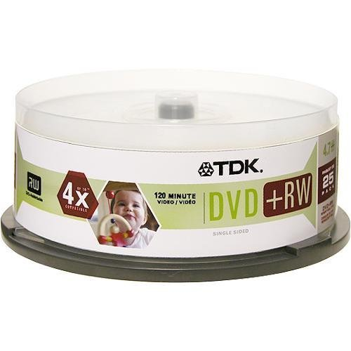 TDK DVD+RW 4 x 4.7GB (25-Pack Spindle)