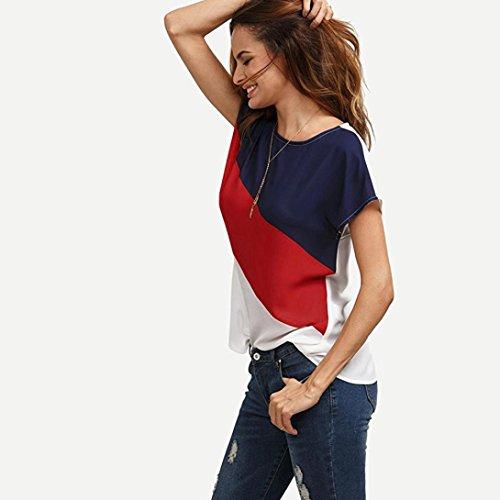 Shirt en Courte Shirt Mousseline Originaux Femme Tee Chemisier Rouge Top Longra Femme Femme Originaux Femme T Marque Femme Shirt Haut Tunique T T Femme t Shirt Mode Tee Shirts qXFwO