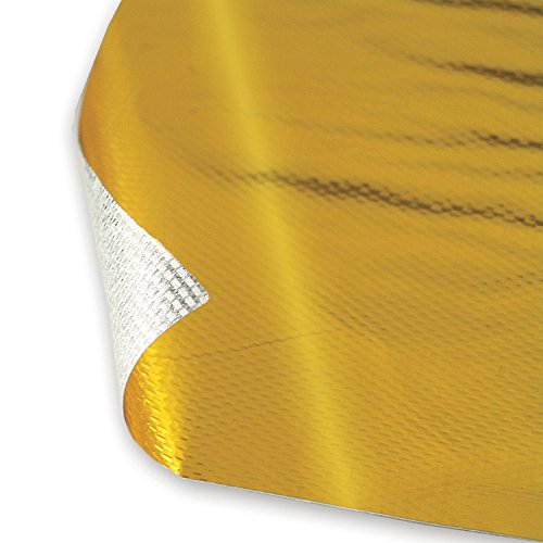 "Design Engineering 010392 Reflect-A-GOLD High-Temperature Heat Reflective Adhesive Backed Sheet, 12"" x 24"" Sheet"