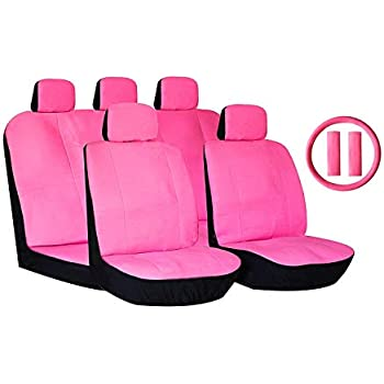 lupex Shop Smart.2S.EC /_ Pink.BI Car Seat Cover Faux Leather Pink//White